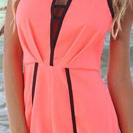 Sexy deep V-neck jumpsuits #091107A..