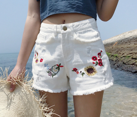 Floral Embroidered H..