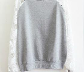 Lace long-sleeved sw..