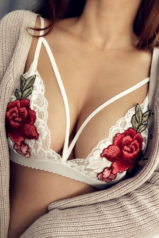 STYLISH BRA SEXY LACE FLORAL FASHION UNDERWEAR