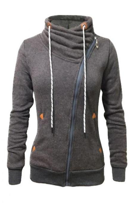 Long-Sleeved Sports Cardigan Zipper Sweater Jacket