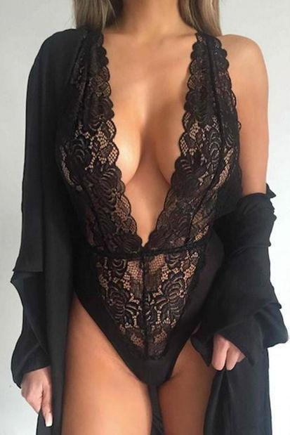 Sexy lace halter Triangle Rompers swimsuit