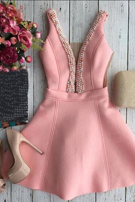 FASHION V-NECK HARNESS DRESS
