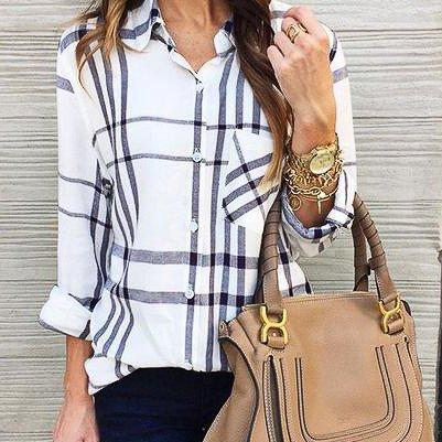 Casual Pocket Long-Sleeved Shirt