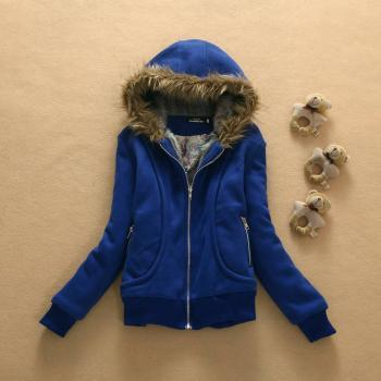 Hat fur collar coat #081901DA