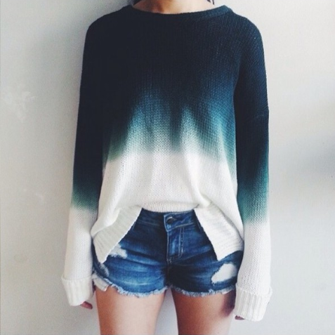 RETRO ROUND NECK LONG-SLEEVED KNIT SWEATER